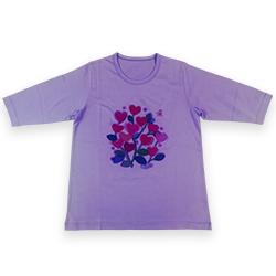Tシャツ(カットソー)ラベンダー