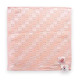 ハンドタオル しゅすワッフル ピンク